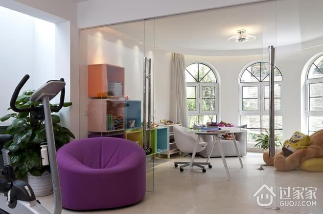 248平白色现代别墅欣赏阳台