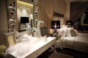 88平新古典样板房欣赏卧室梳妆台