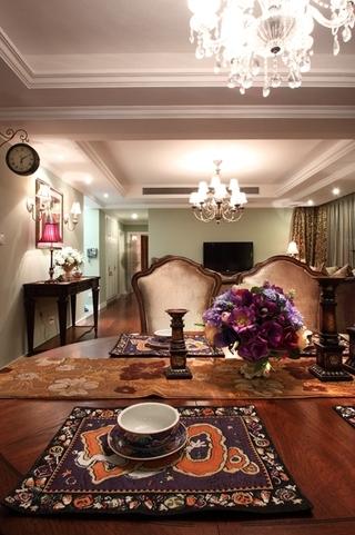 130平美式四室两厅欣赏餐厅