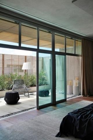 灰色调现代公寓欣赏卧室陈设