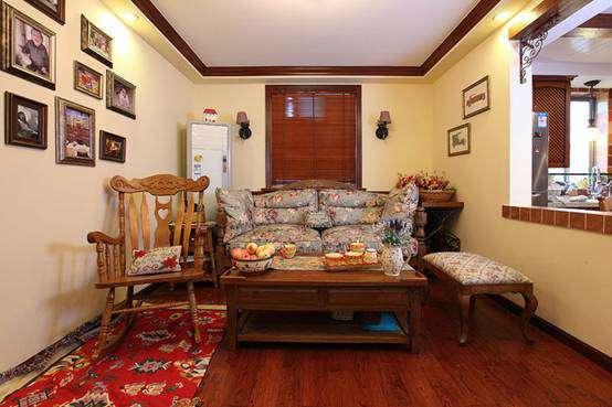 流程与工艺 装修前 装修设计 70平方二居室美式装修风格样板房效果图