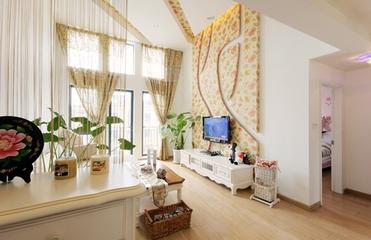 90平田园复式住宅欣赏客厅效果图