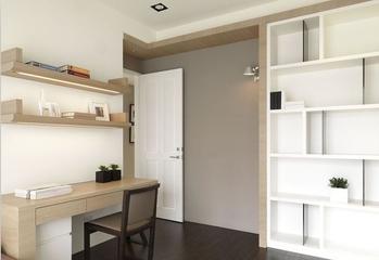 简约舒适三居室住宅欣赏书房