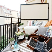 85平北欧风格两居室欣赏阳台