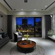 简约风格小清新公寓客厅全景