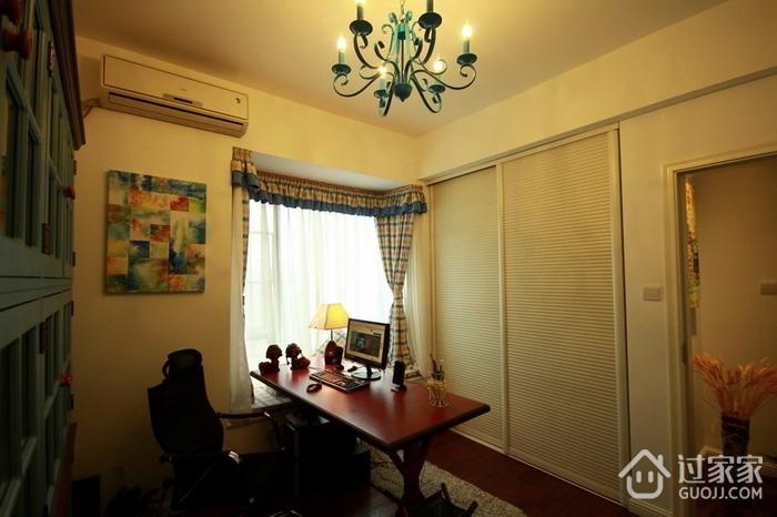 唯美书房灯饰装修效果图 清新美式家居