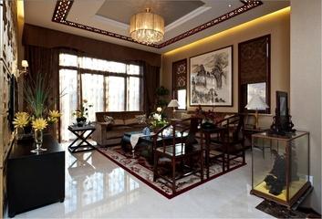 混搭奢华三居室欣赏客厅吊顶设计