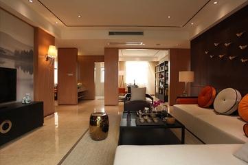 83平新中式三居室装修图