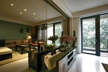东南亚风格样板房欣赏客厅效果