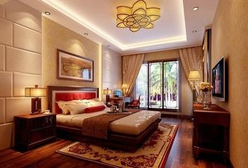 雅致新中式三居室欣赏卧室陈设