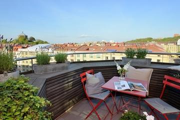 122平白色北欧住宅欣赏露台