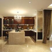 欧式风格设计厨房正视图
