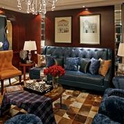 美式风格住宅套图客厅背景墙设计