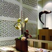 现代中式餐厅花艺
