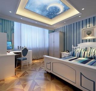 119平新古典四居室欣赏卧室吊顶
