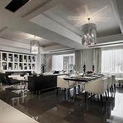 新古典经典灰白黑住宅欣赏客厅效果