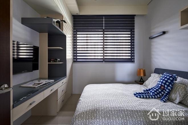 现代卧室书桌架设计效果图 简单纯净家居
