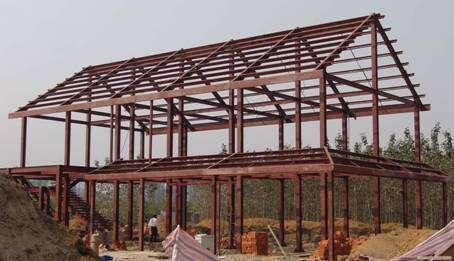框架结构的分类   房屋的框架按跨数分有单跨,多跨;按层数分有单层