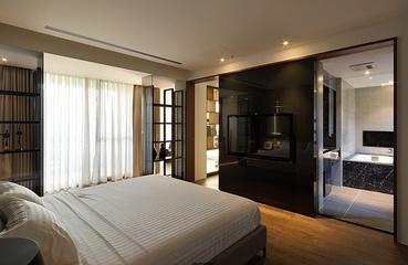 现代黑白空间效果图卧室效果