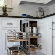 白色简欧风别墅套图厨房橱柜