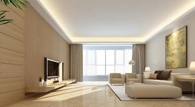 硅藻泥背景墙风格:现代简约风格客厅硅藻泥背景墙效果