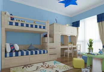 给人一种自由奔放、温暖舒适的心理感受!美式儿童房装修设计理念