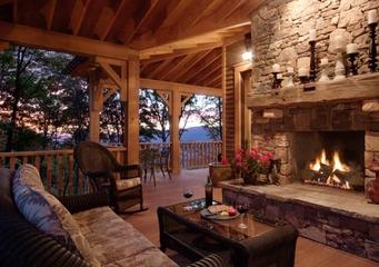 美式风格别墅效果图露台背景