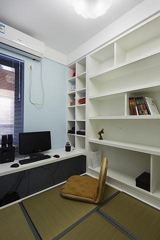 86平简约三室两厅欣赏书房设计