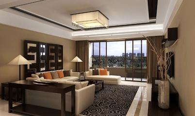 新中式客厅吊顶装修效果图 优雅家居生活