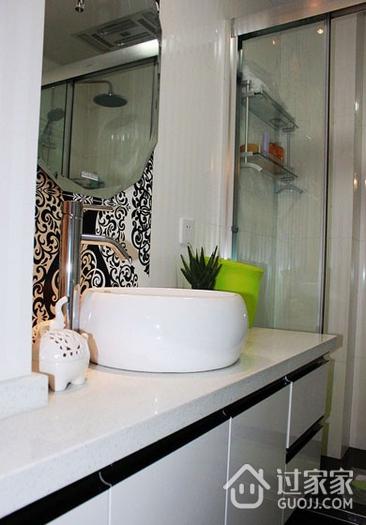 80平三居室现代风欣赏卫生间洗手盆