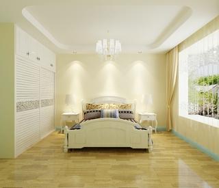 情迷地中海三居室欣赏卧室衣柜