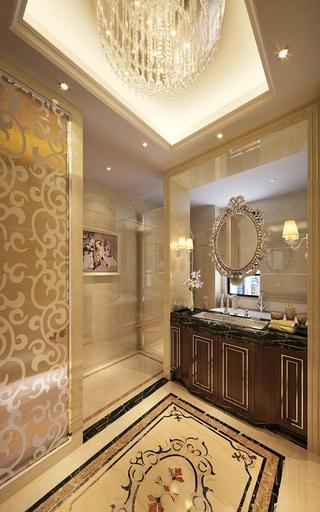 欧式金典装饰效果图洗手间