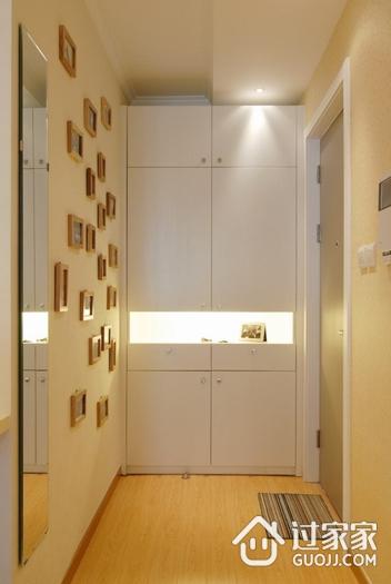 79平简约温馨两居室案例欣赏玄关背景墙