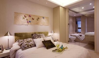 温馨简约卧室背景墙装修 简单不失个性