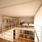 124平日式清爽别墅欣赏卧室