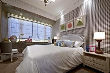新古典样板房三居室欣赏卧室灯饰