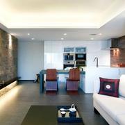 116平现代风格案例欣赏客厅效果