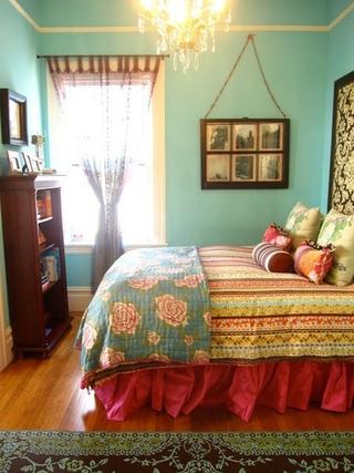 混搭彩色住宅欣赏卧室陈设