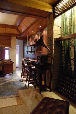 东南亚设计客厅吧台