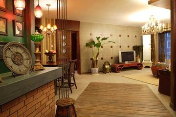 东南亚风格住宅欣赏过道吧台