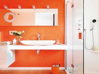 色彩巧妙运用简约两居室欣赏洗手间