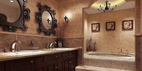 122平美式乡村住宅欣赏洗手间