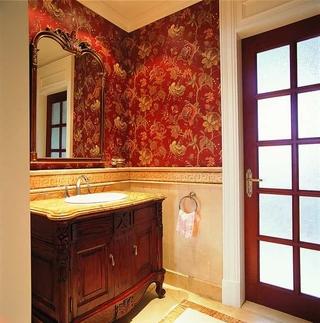 美式温馨装饰住宅欣赏洗手间