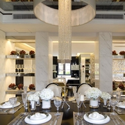 新古典复式住宅餐厅设计