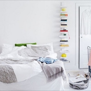 白色三居现代风格效果图卧室