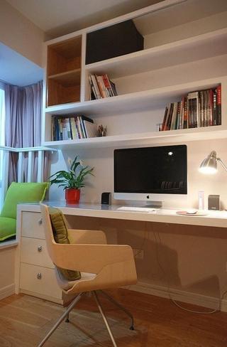 简约书房书架设计效果图 89平温馨三居室