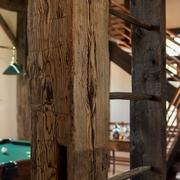 美式乡村木色别墅效果图游戏厅局部