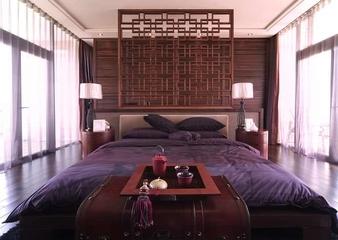 中式风格实景案例欣赏卧室陈设