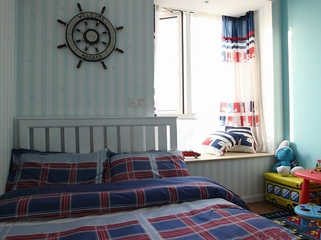 84平舒适现代三居欣赏儿童房设计