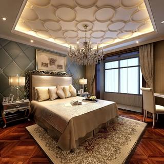 欧式奢华大三居效果欣赏卧室效果